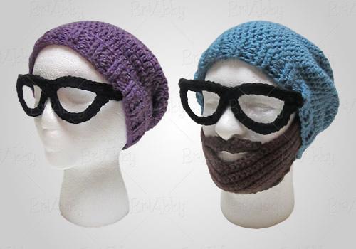crochet beard hipster beanie pattern