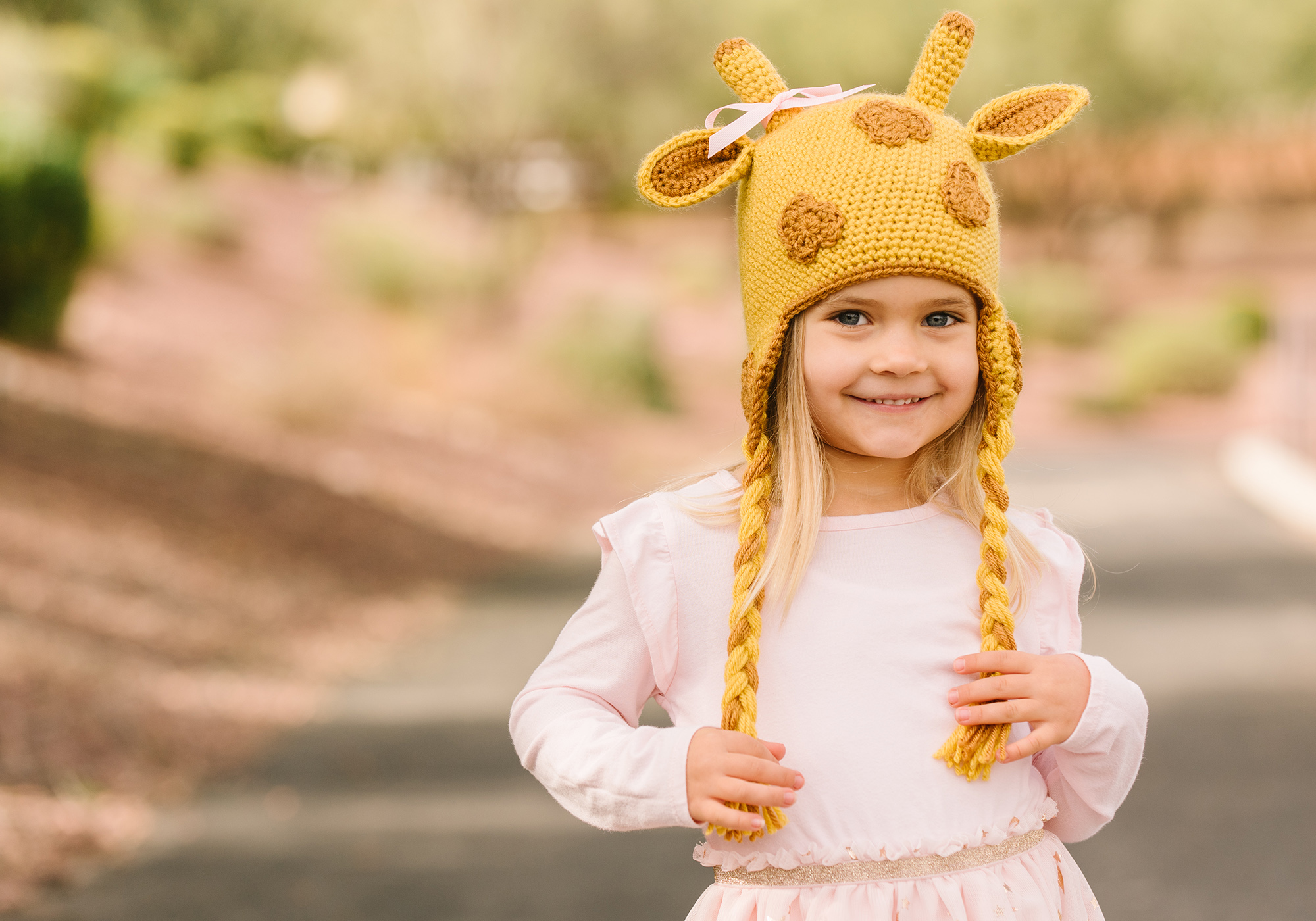 Girls Giraffe Hat
