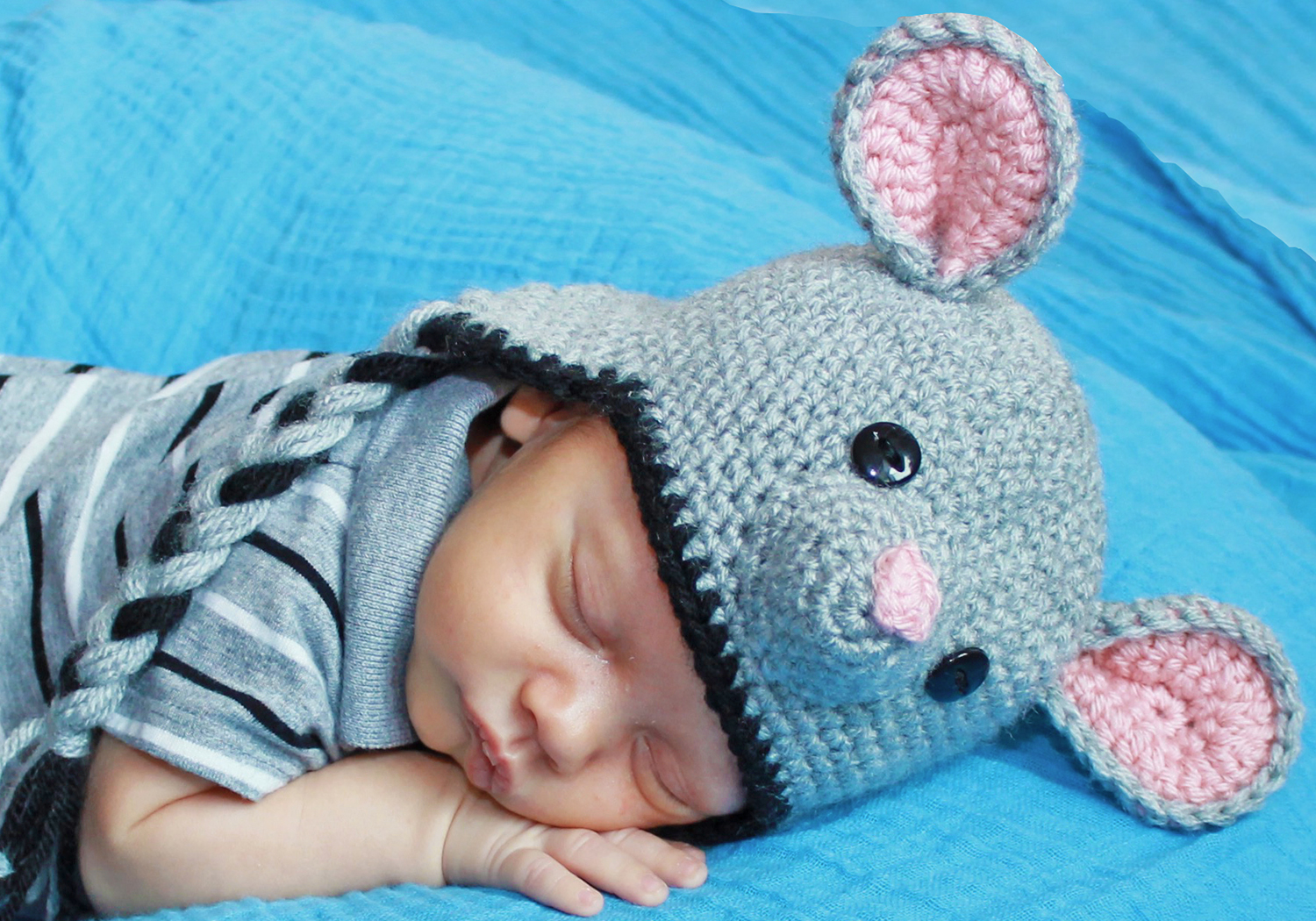 Easy Mouse Hat Pattern