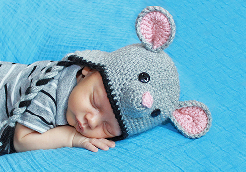 Cute Baby Crochet Mouse Hat Pattern