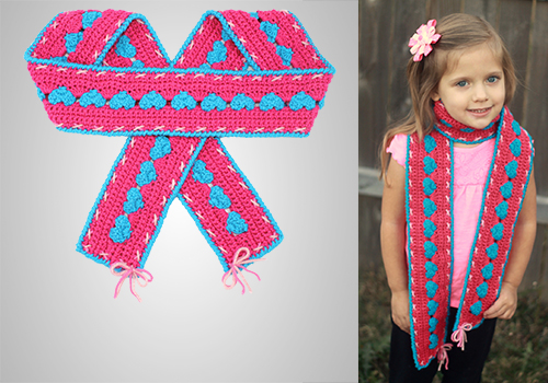 Crochet Sweetheart Scarf