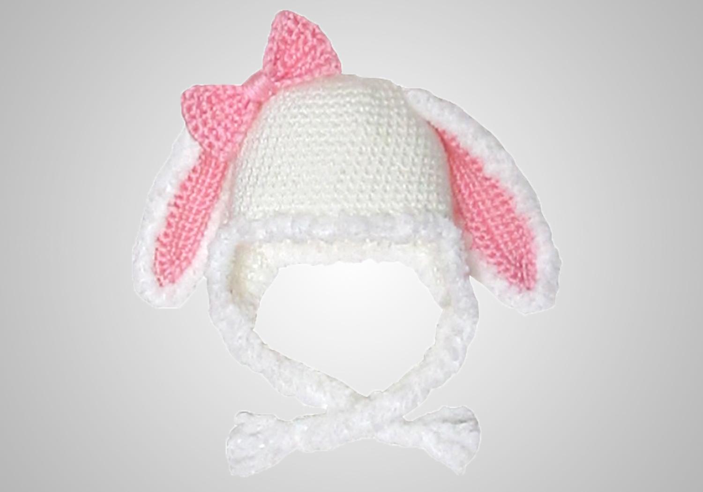 crochet furry bunny hat