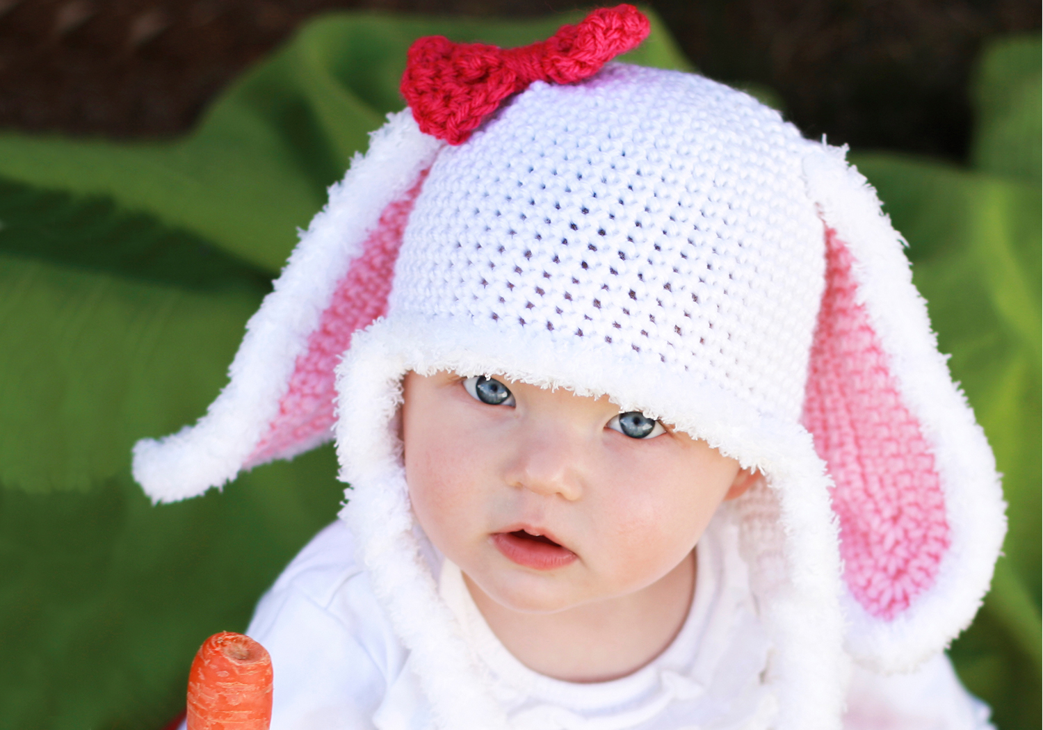 Cute furry bunny hat