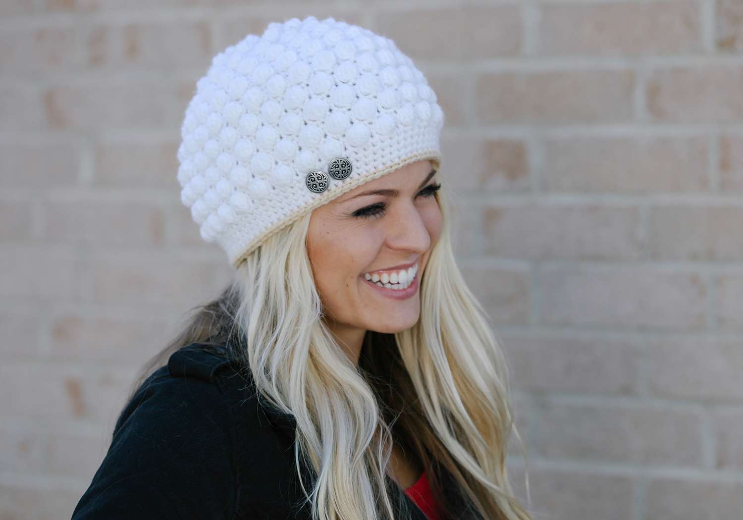 Easy Bobble Stitch Hat
