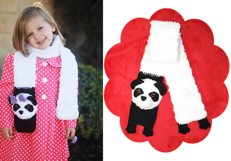 Crochet Panda Bear Scarf Pattern