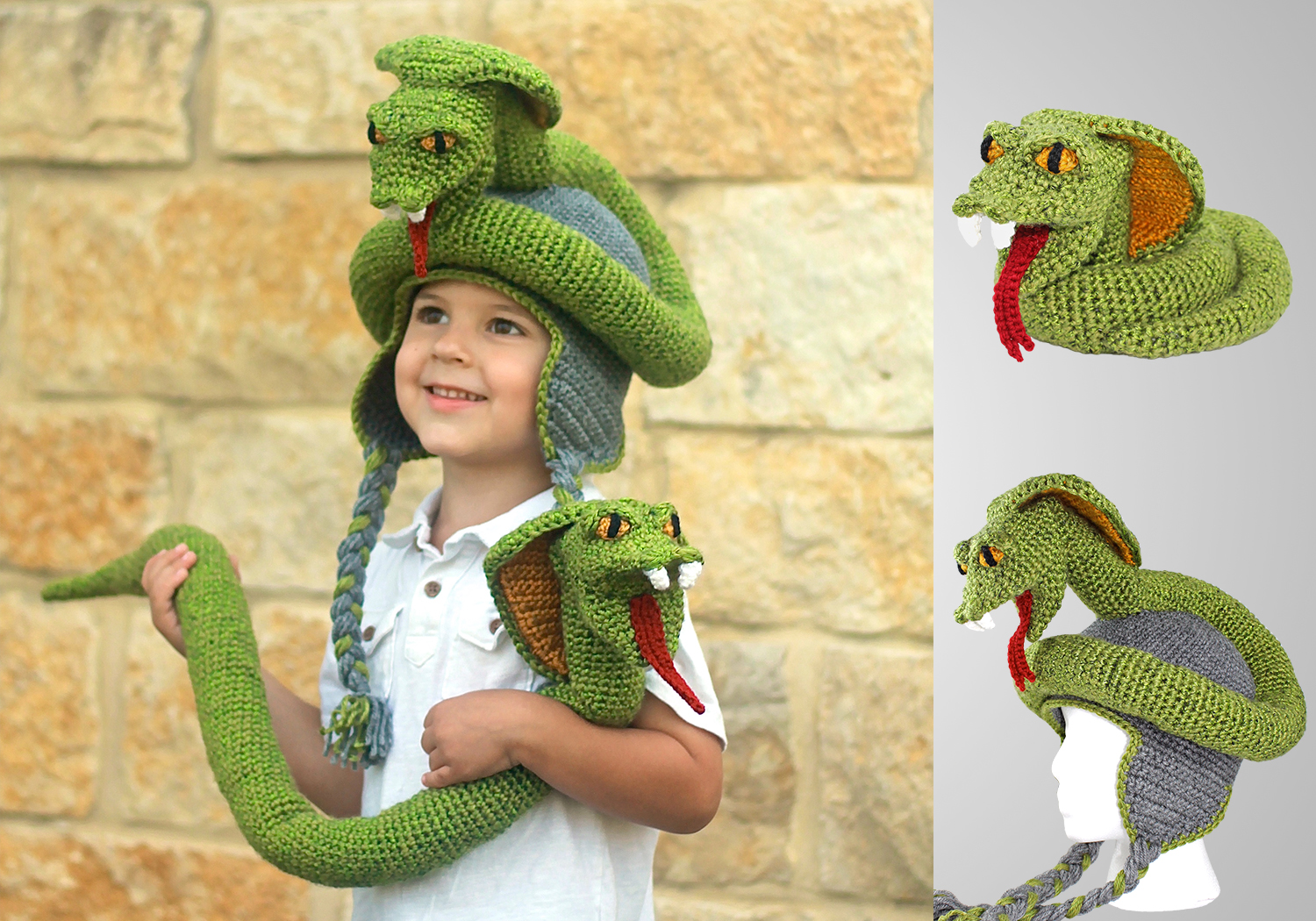 unique cobra hat and toy