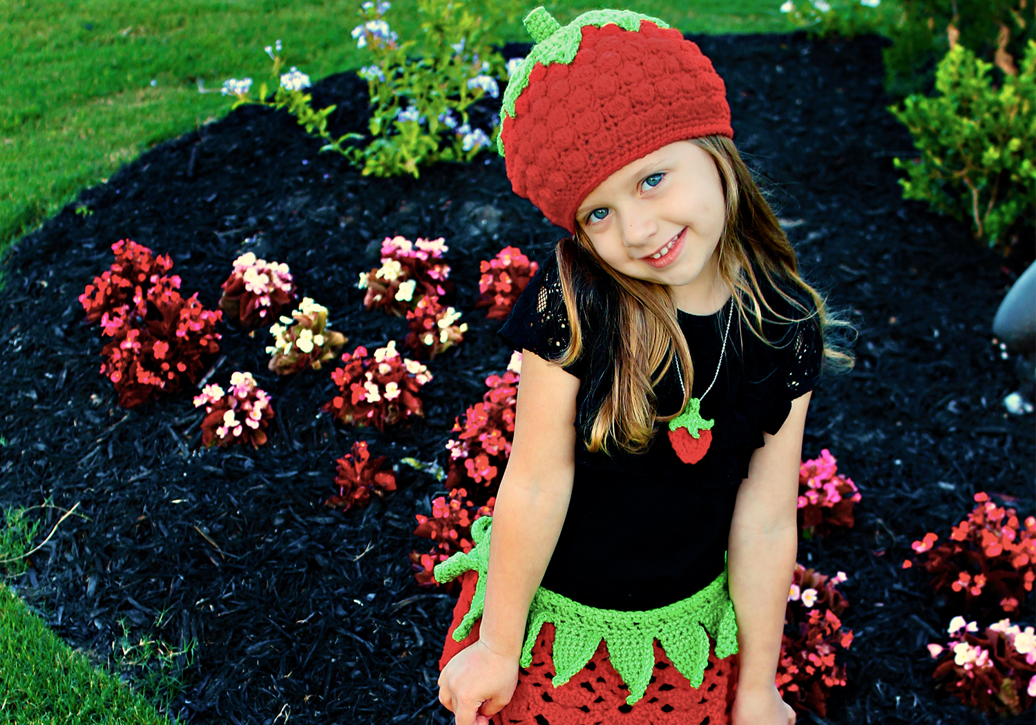 Crochet Strawberry Outfit