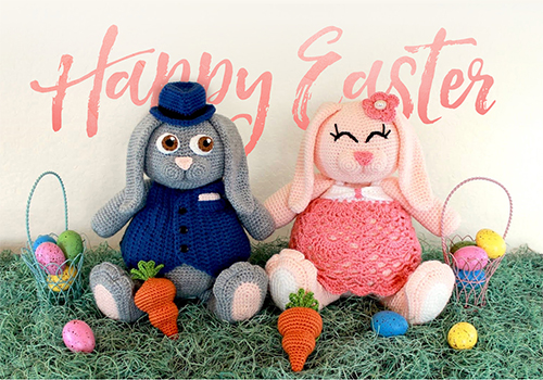 Easter bunny toy pattern