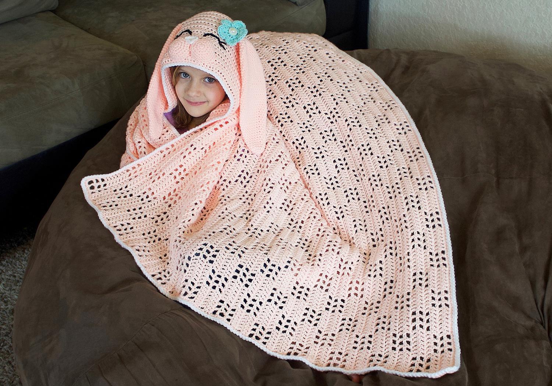 cute girls bunny blanket