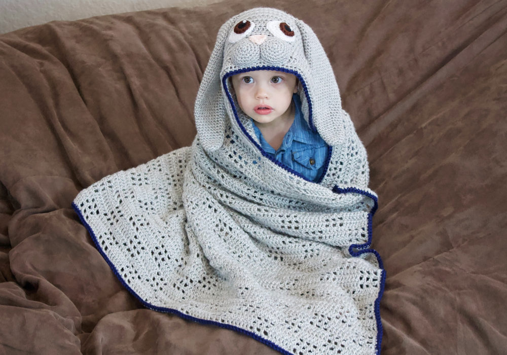 baby hooded bunny blanket