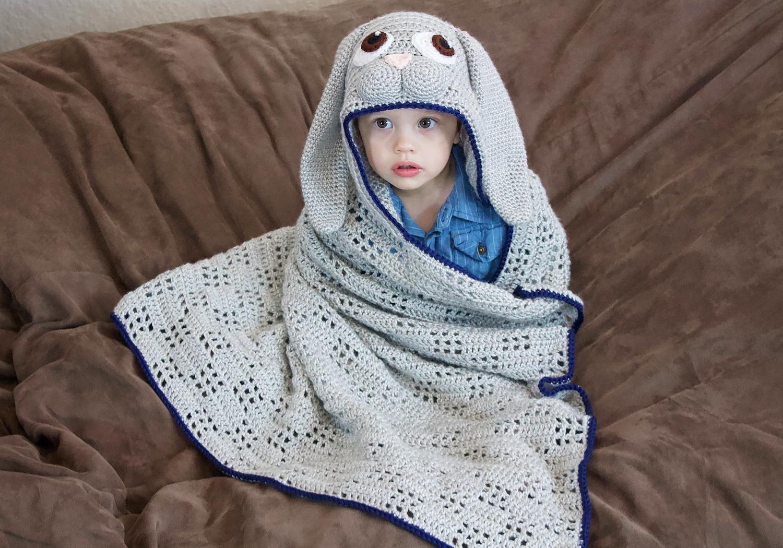 baby hooded bunny blanket