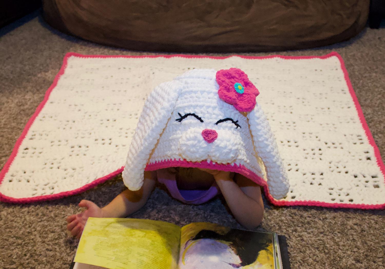 easy crochet bunny blanket pattern