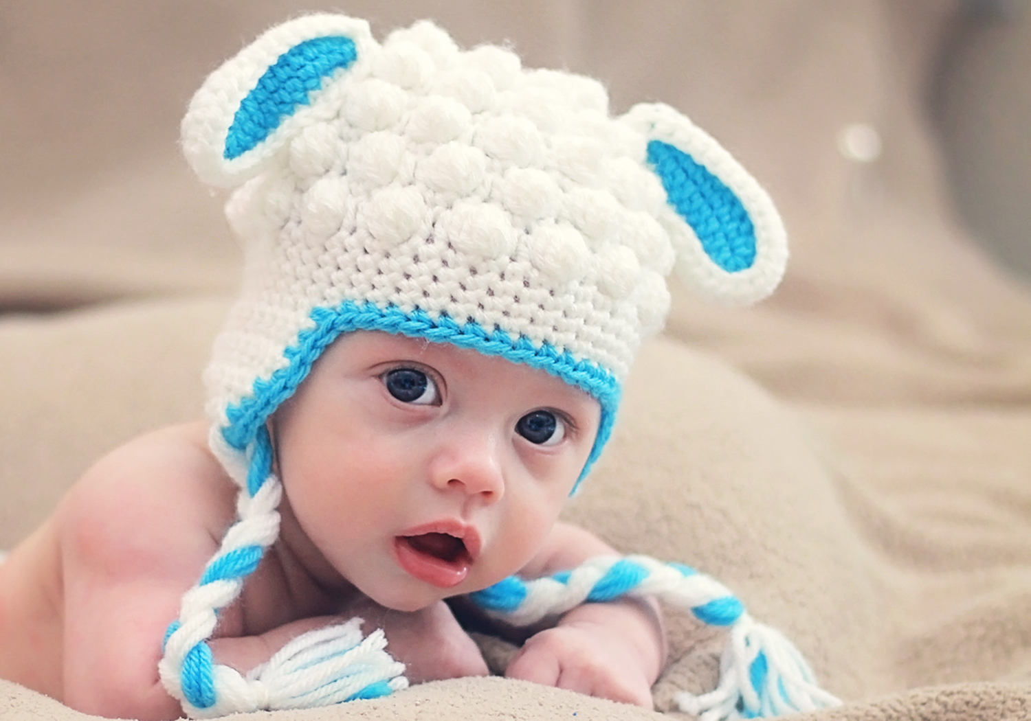 Boy Crochet Lamb Hat
