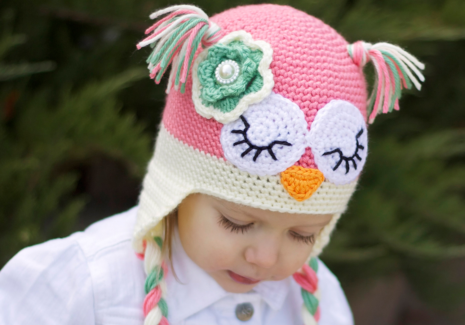 girl owl hat pattern