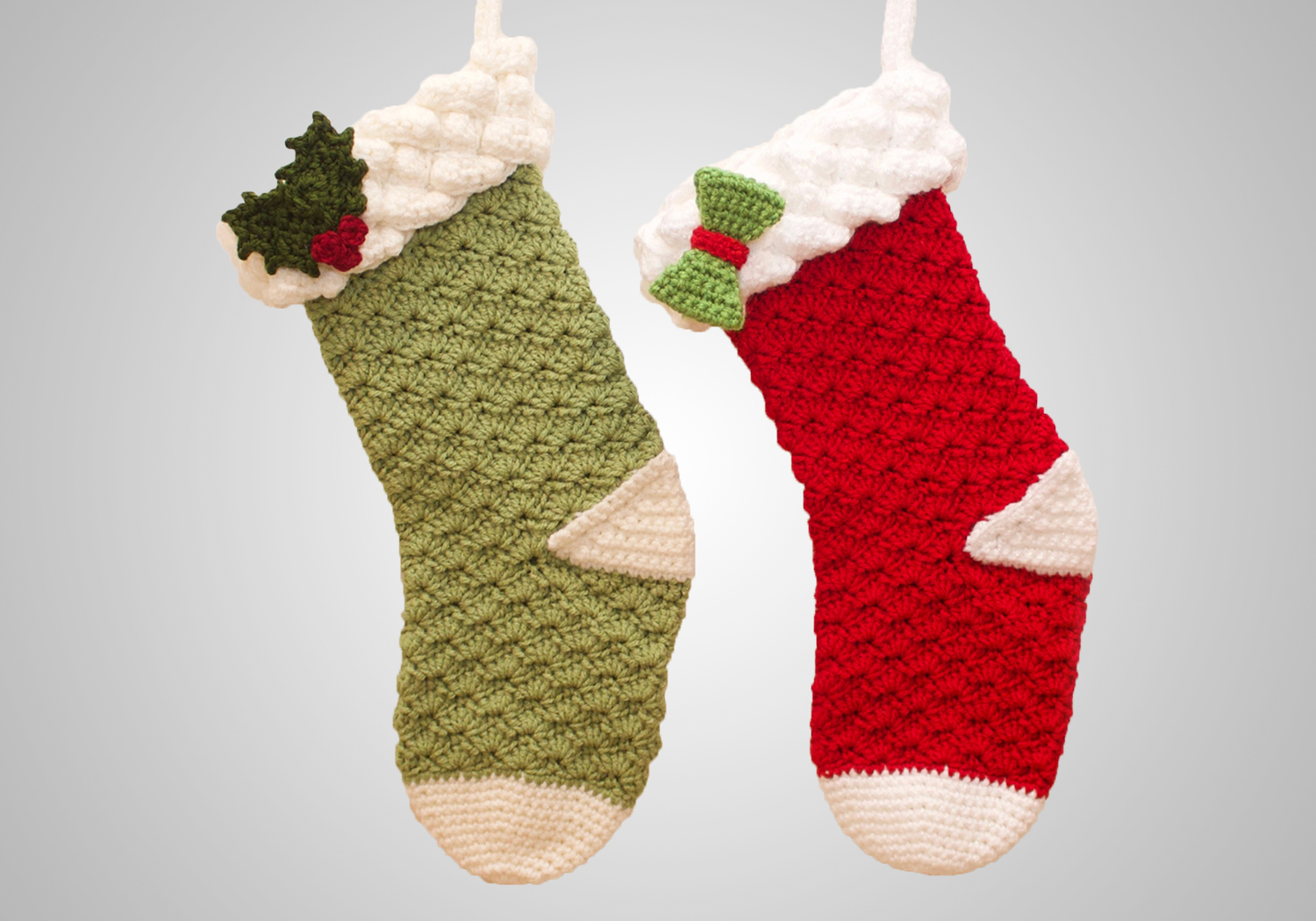 Beautiful Crochet Christmas Stocking Decor