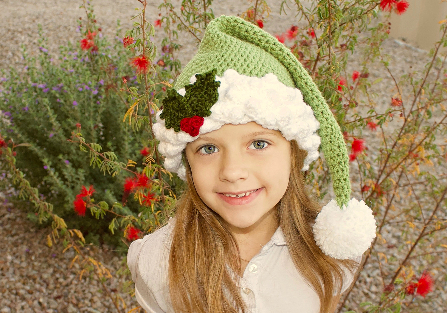crochet fancy santa/elf hat pattern