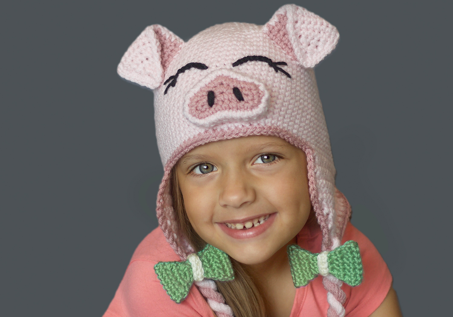 girl pig hat pattern