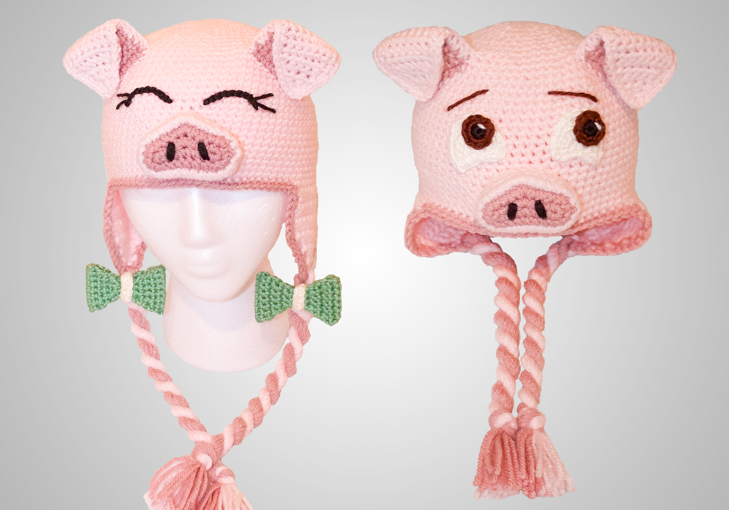 easy pig hat pattern