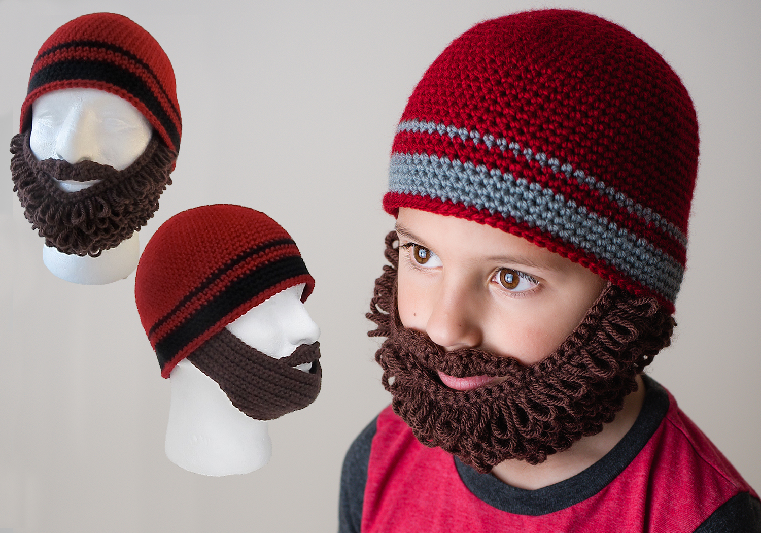 curly/straight beard beanie