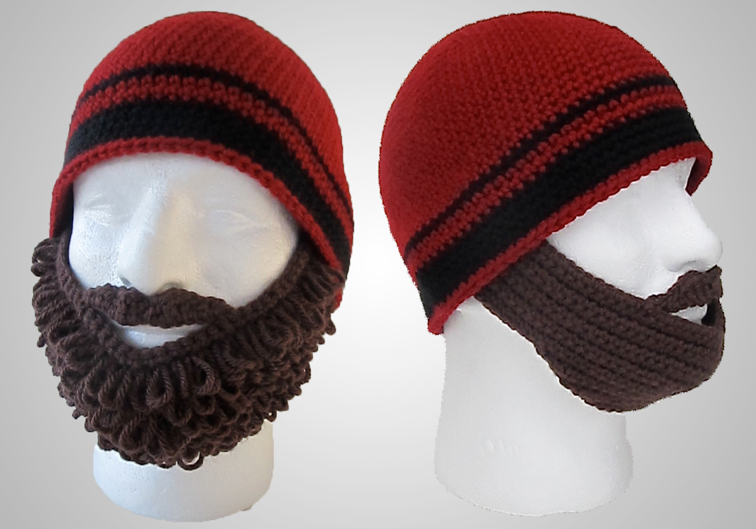 easy crochet beard beanie pattern
