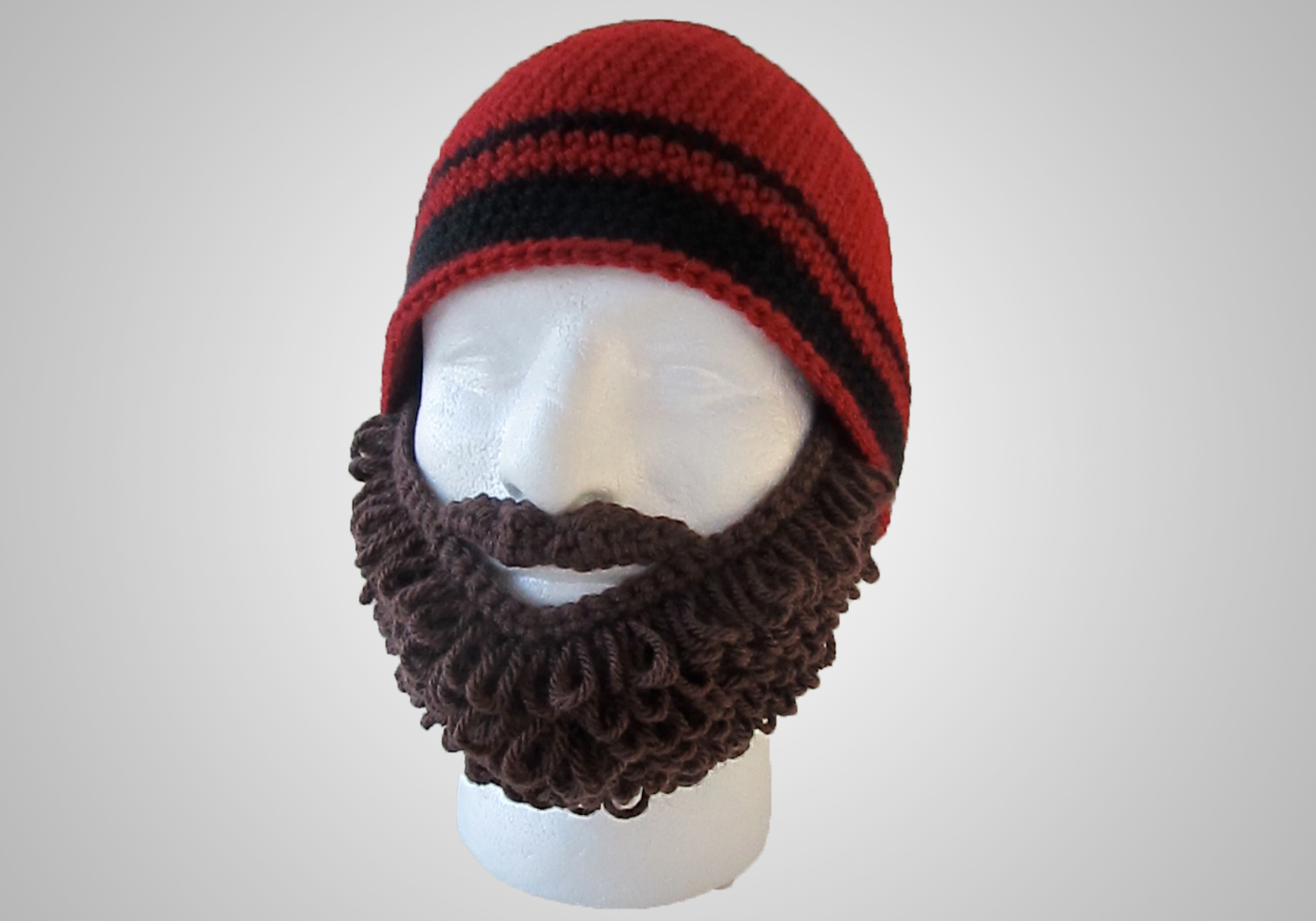 easy crochet curly beard beanie
