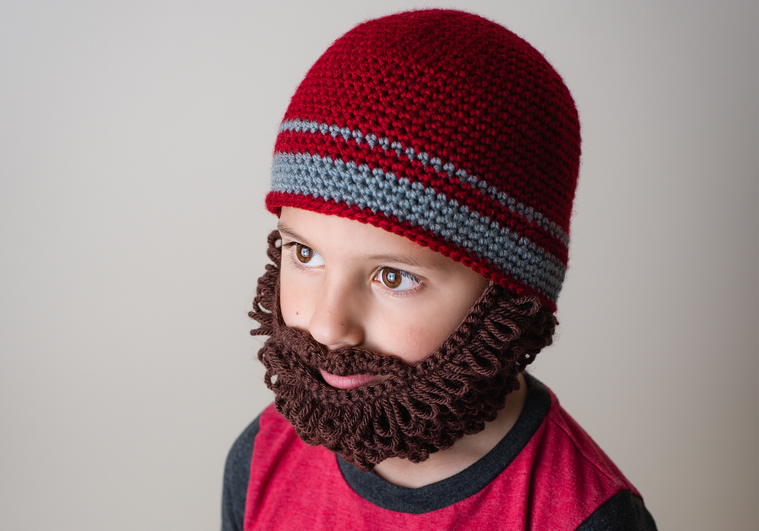 easy curly beard beanie