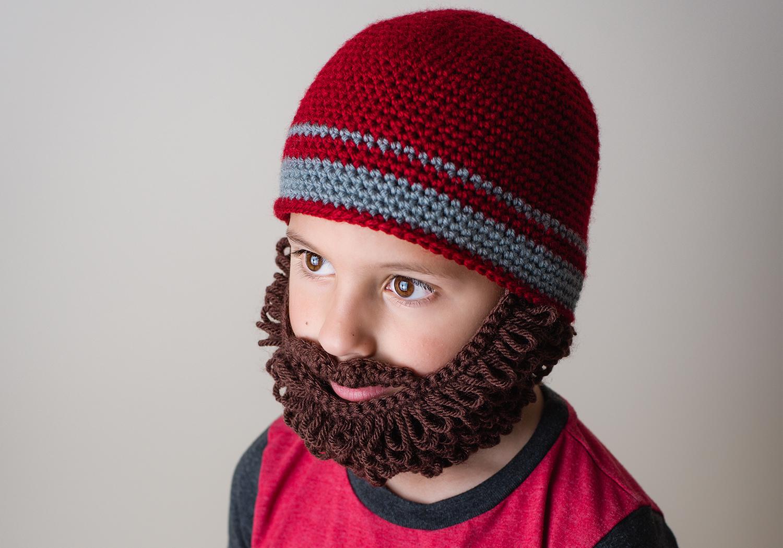 easy curly beard beanie