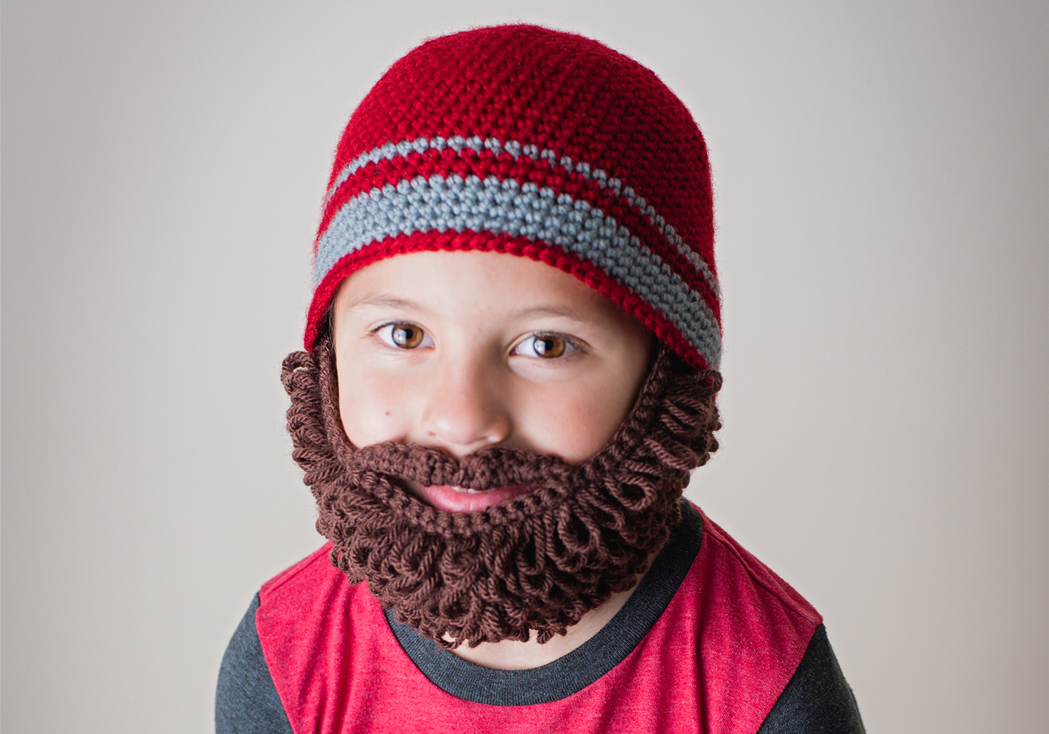 curly beard beanie pattern