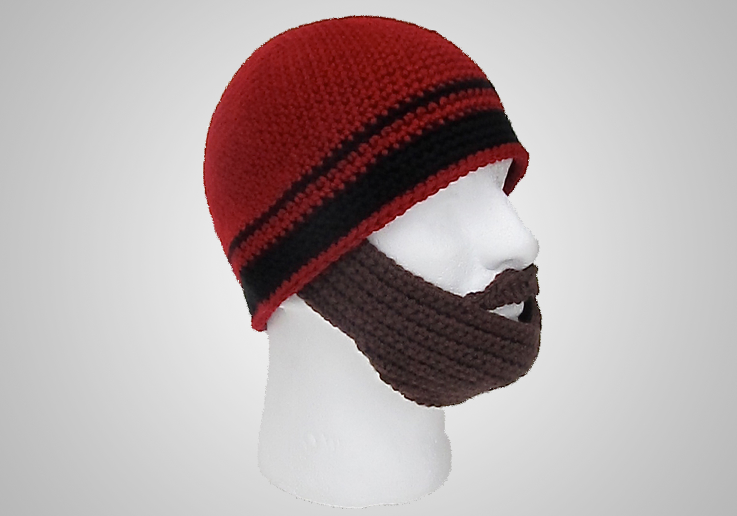 straight beard beanie pattern