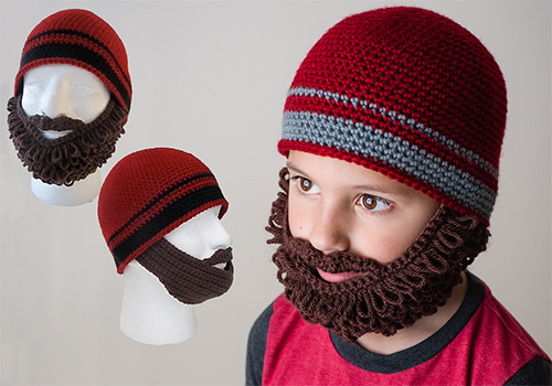 beard beanie crochet pattern