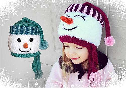 Snowman Crochet Hat Pattern