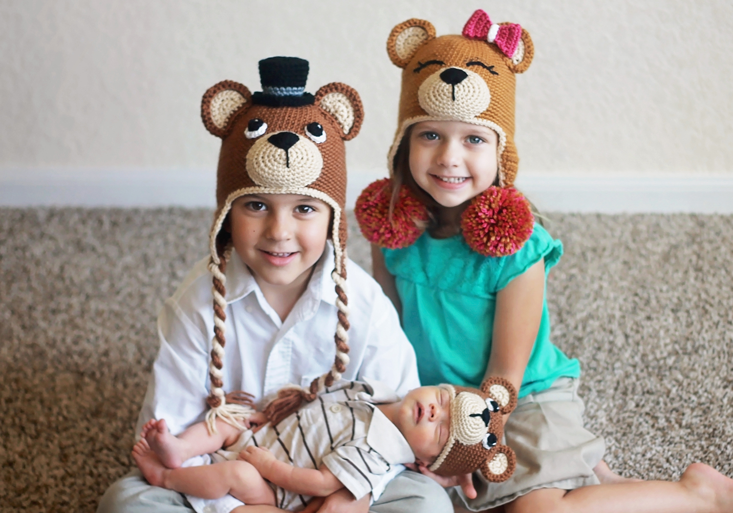 Matching Bear hats