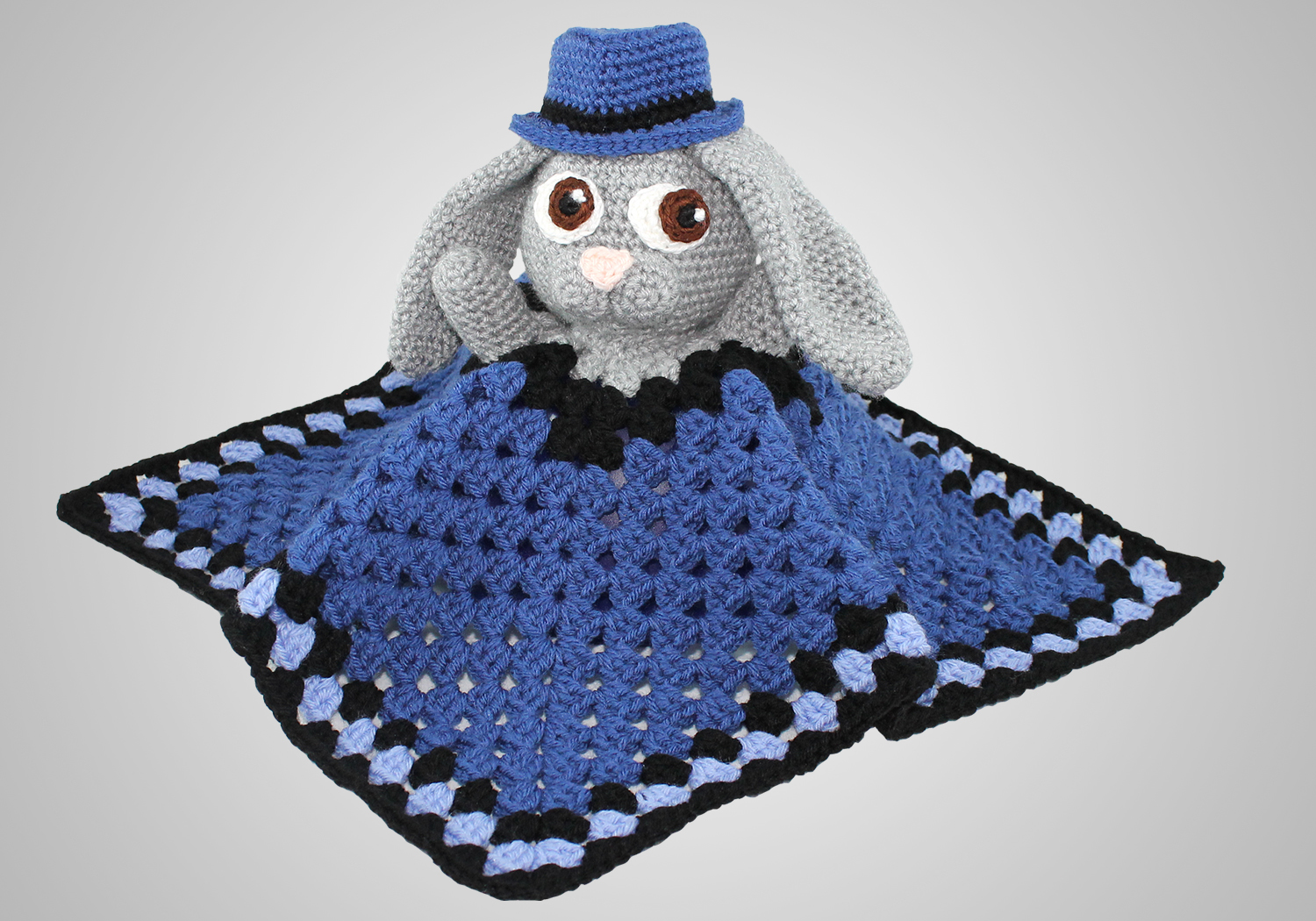 boy bunny lovey pattern