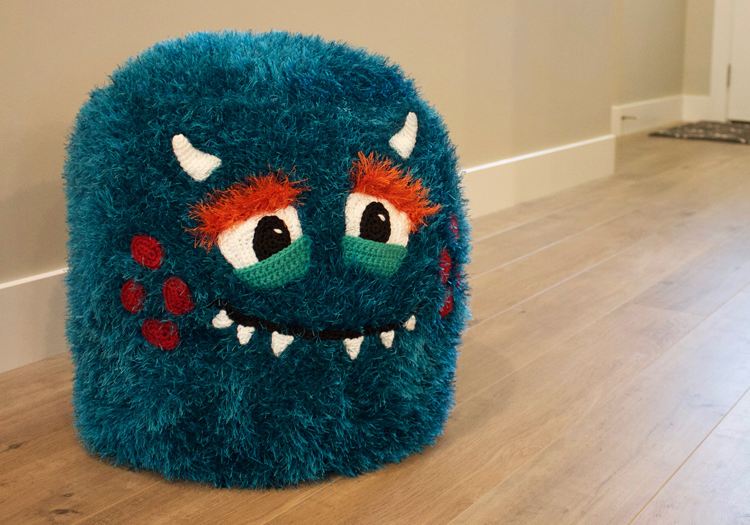 furry monster pouf