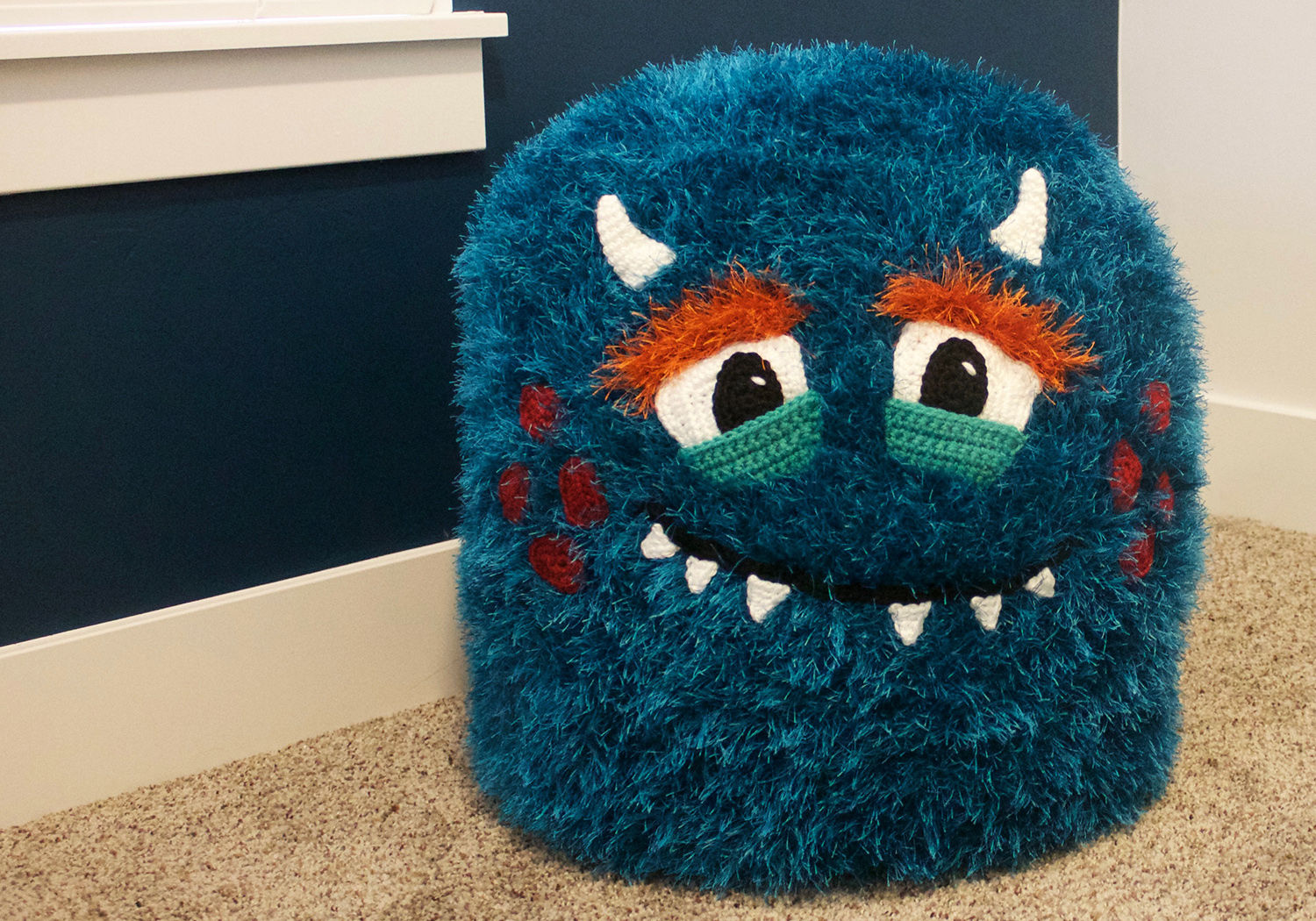 boy monster pouf