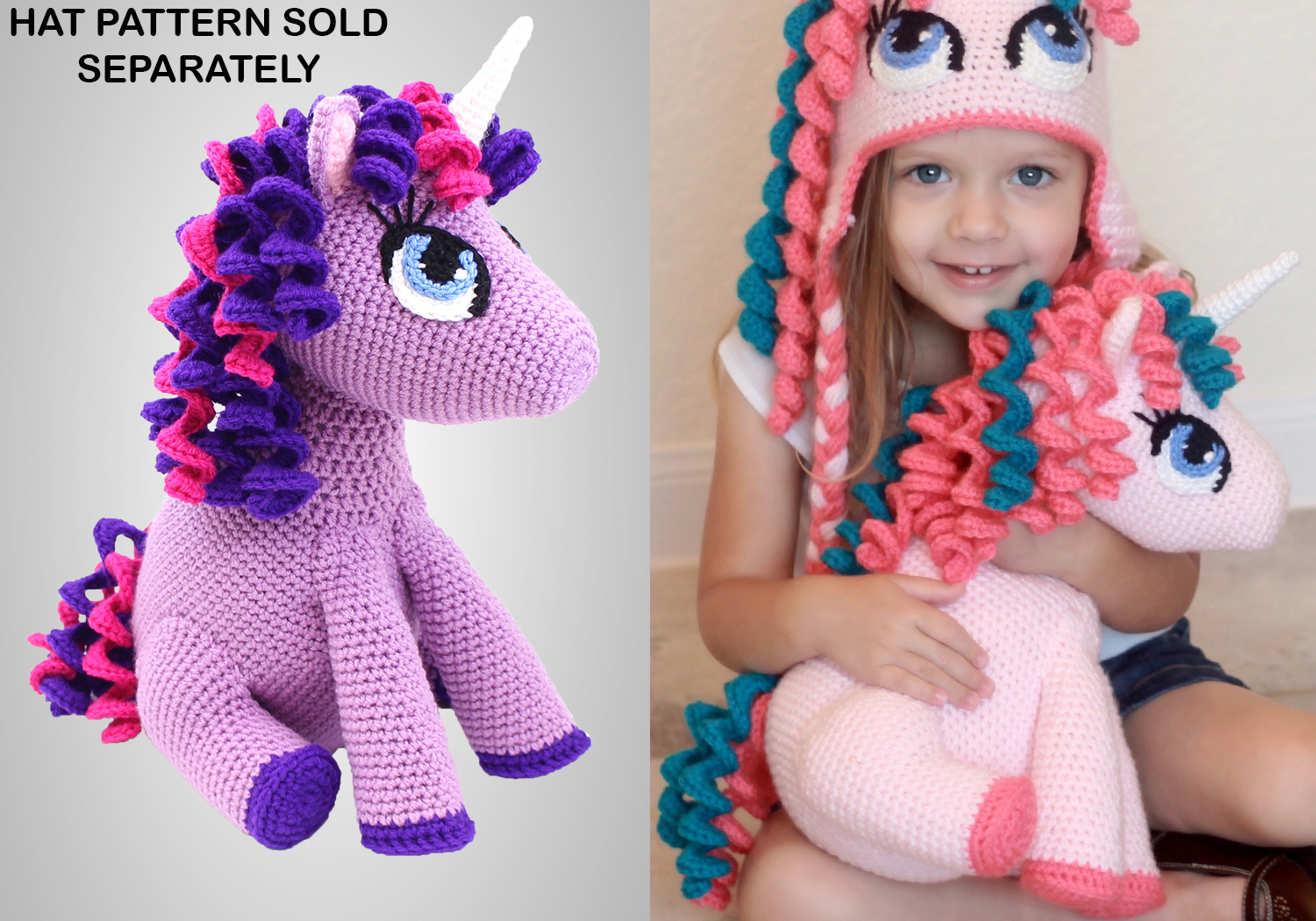 Stuffed Unicorn Toy Pattern