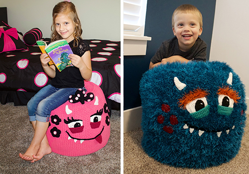 monster pouf pattern