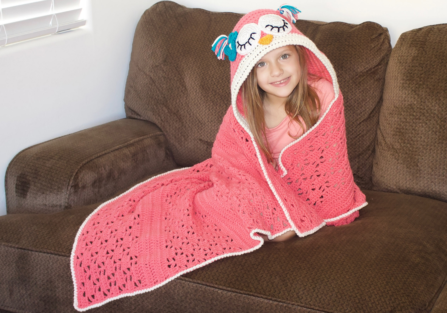 crochet hooded owl blanket