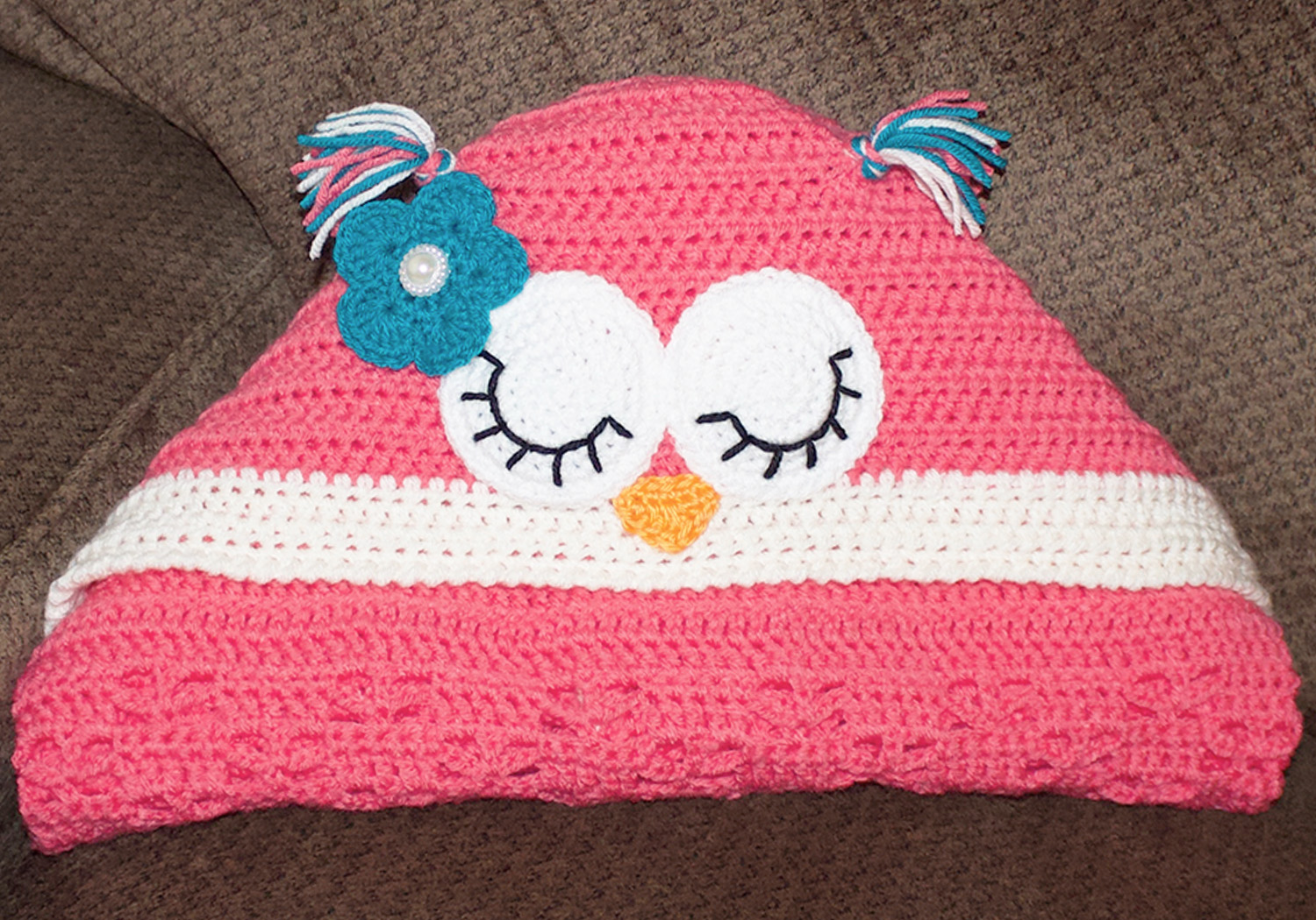 girl hooded owl blanket