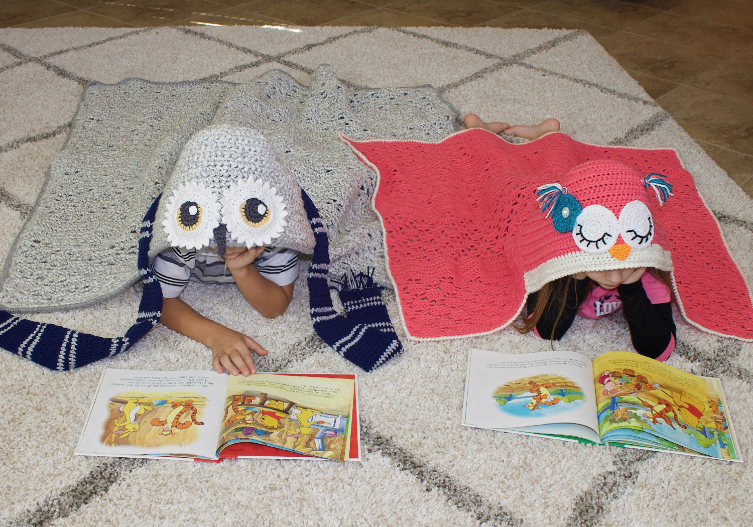 animal owl hooded blanket