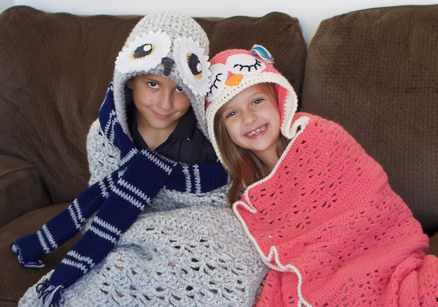 matching hooded owl blankets
