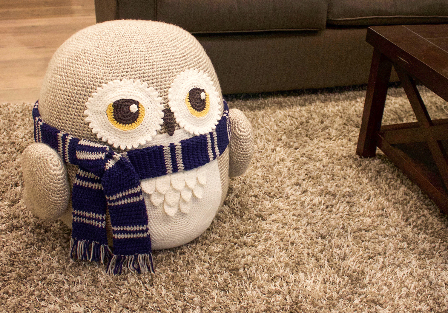 cute owl pouf pattern