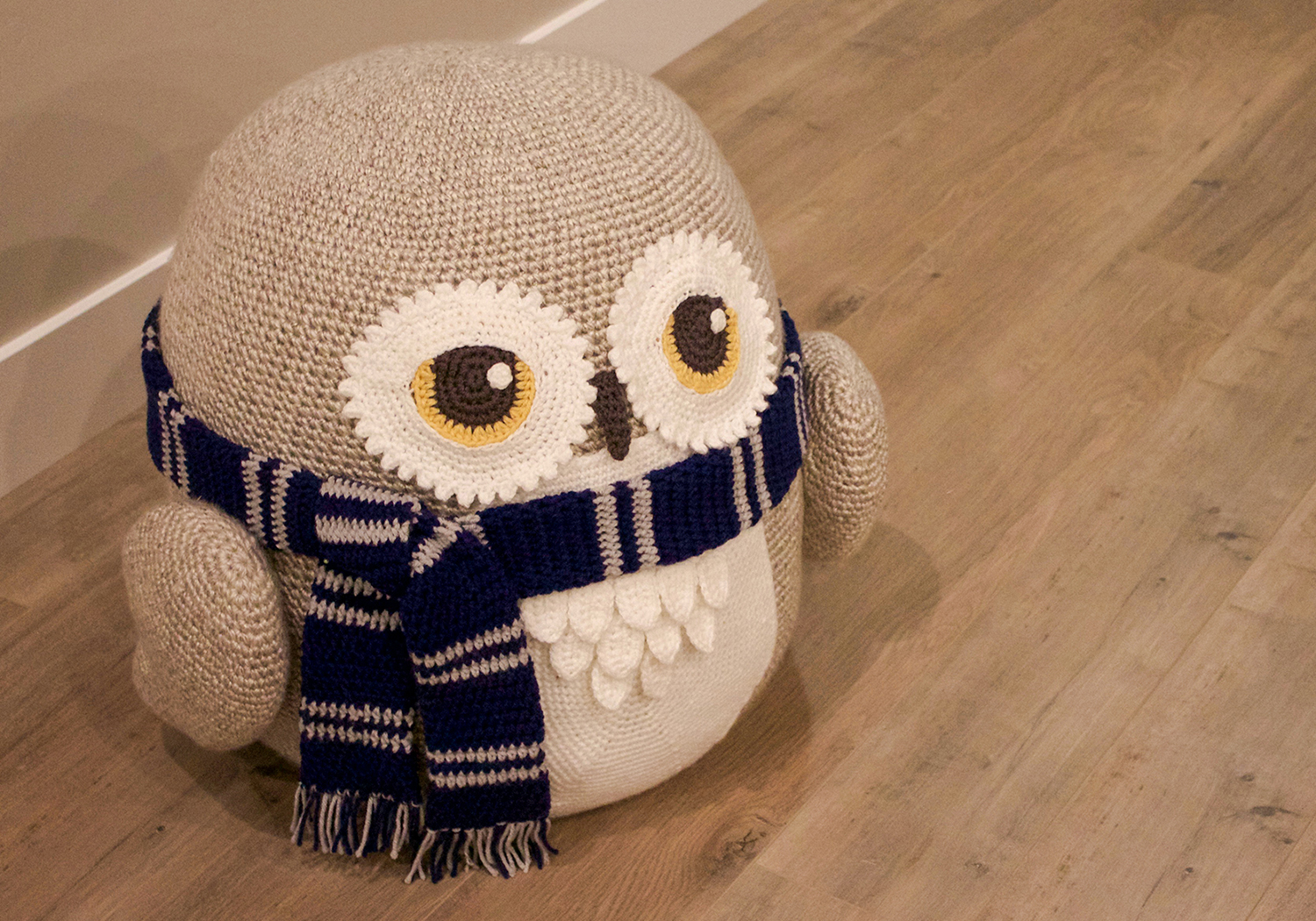 kids owl pouf pattern