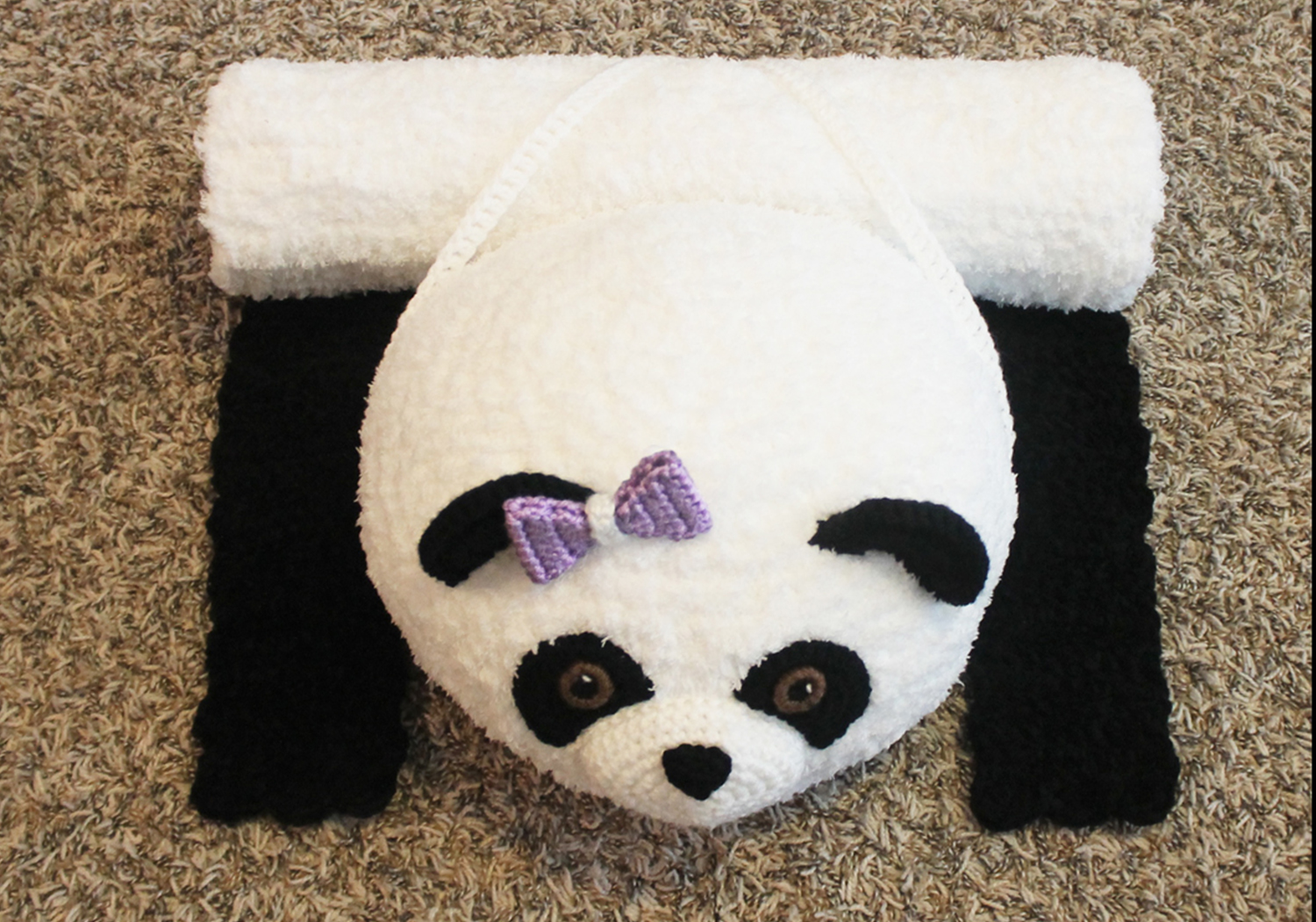panda bear travel mat/backpack