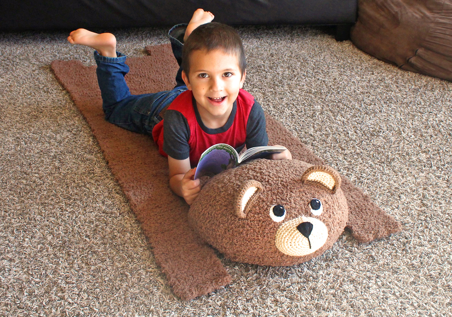 brown bear mat pattern
