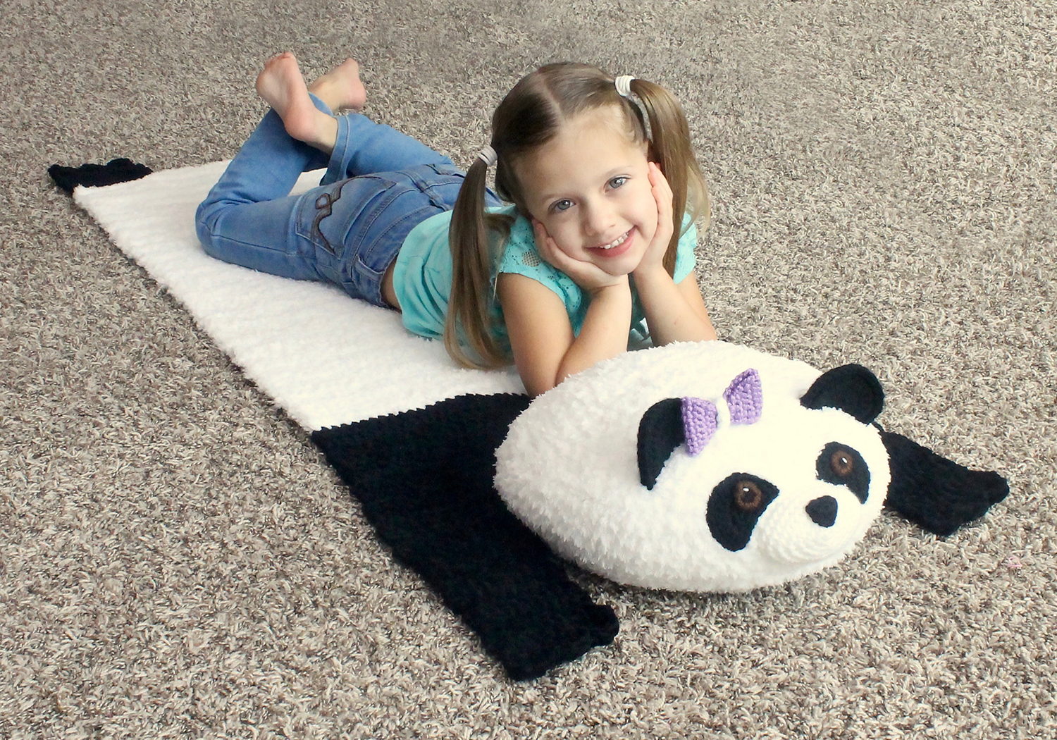 panda bear travel mat