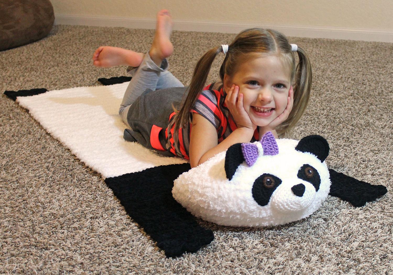 cute panda mat pattern