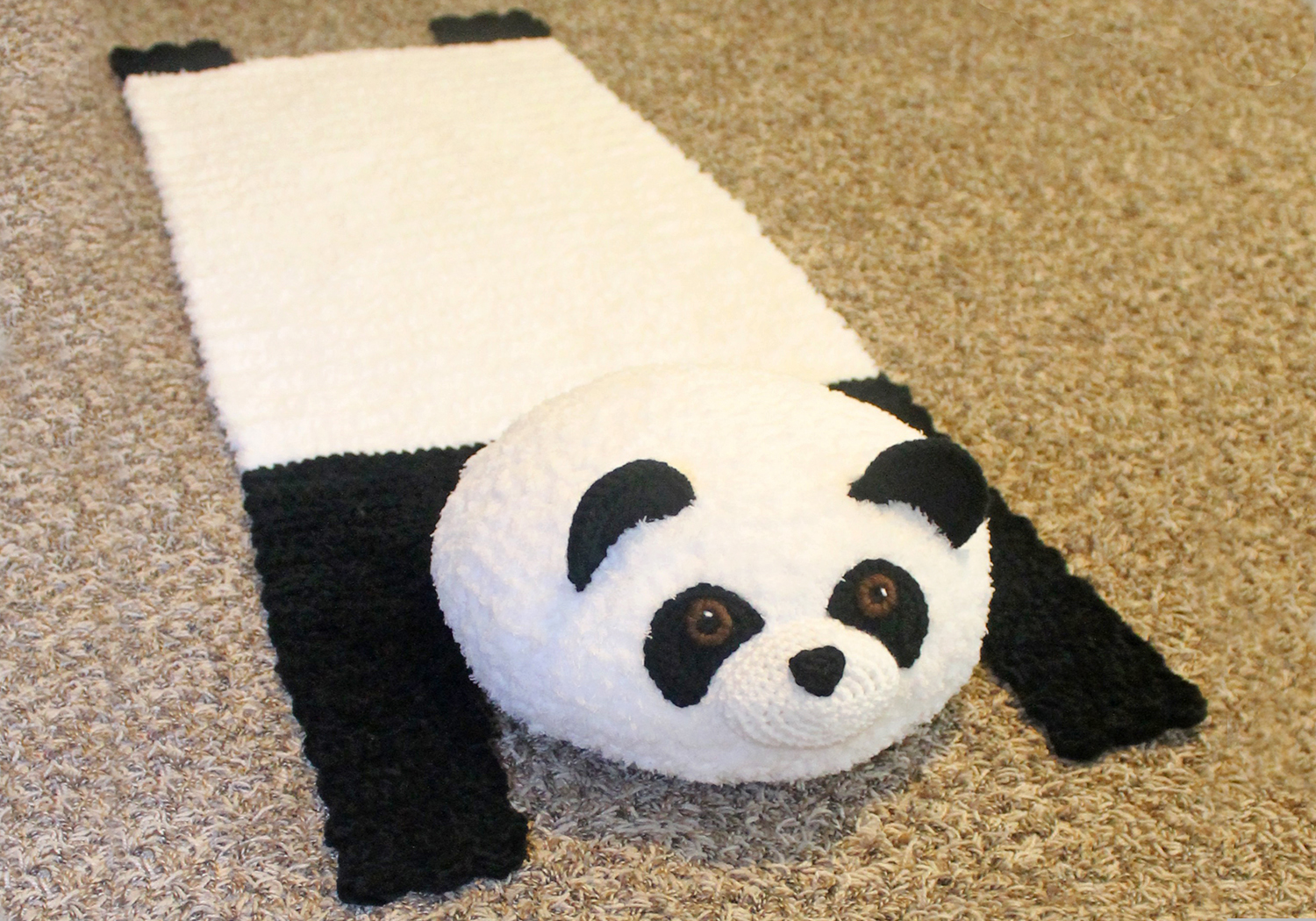 crochet panda bear mat pattern