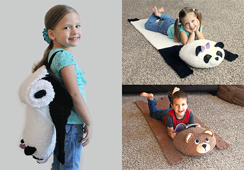 travel bear mat/backpack