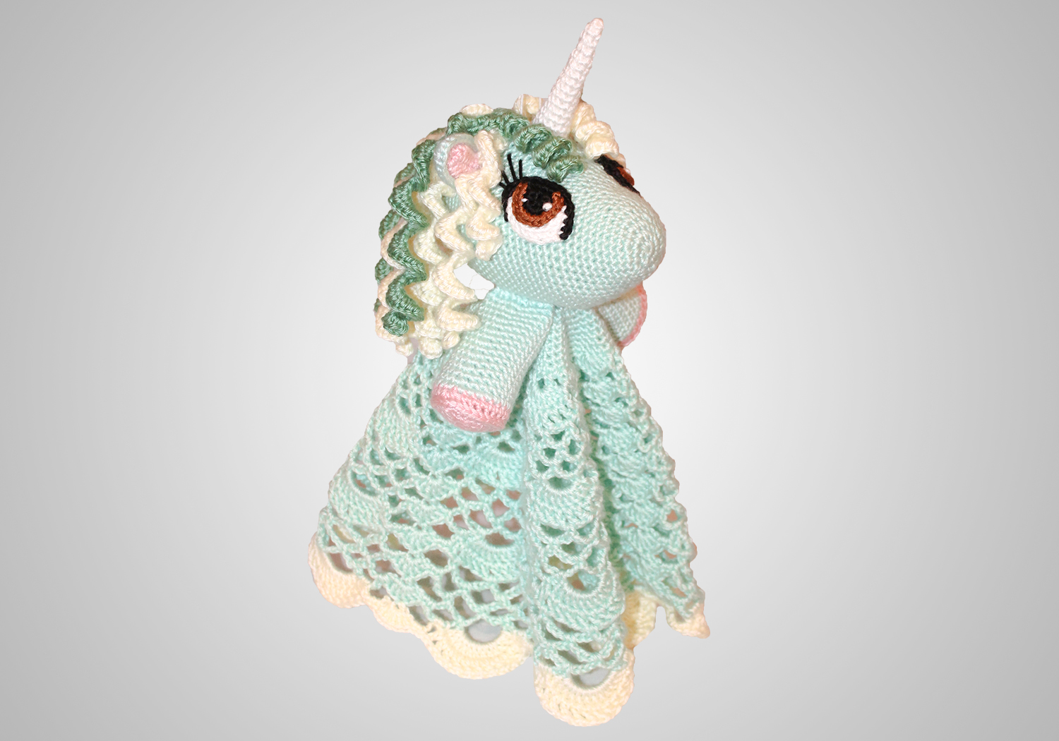 crochet unicorn security blanket